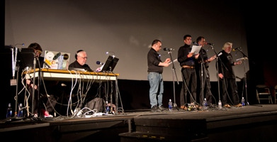 """The HPLHS and backer Umberto Lenzi perform """"At the Mountains of Madness"""" in 2013."""