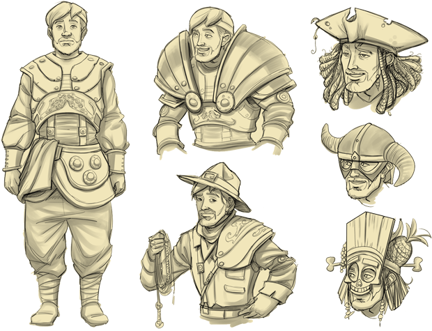 Live long and customize! These concept arts show some ideas by Marvin, our Master of the Concept Art. In the final game, the outfits will reflect the corresponding optional quest.