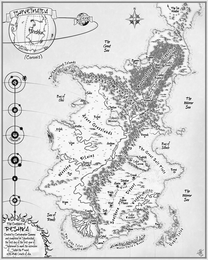 Map of Reskha: Before the Changing of the Sun (Created by Rob Antonishen of http://www.cartocopia.com)