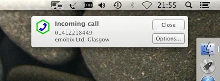 Apple Mac notification display