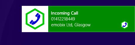 Windows 8 'Toast' notification