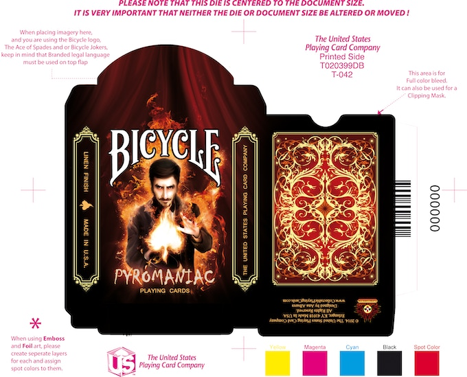 Slightly changed tuck case. The magicians head was moved away from the Bicycle logo.