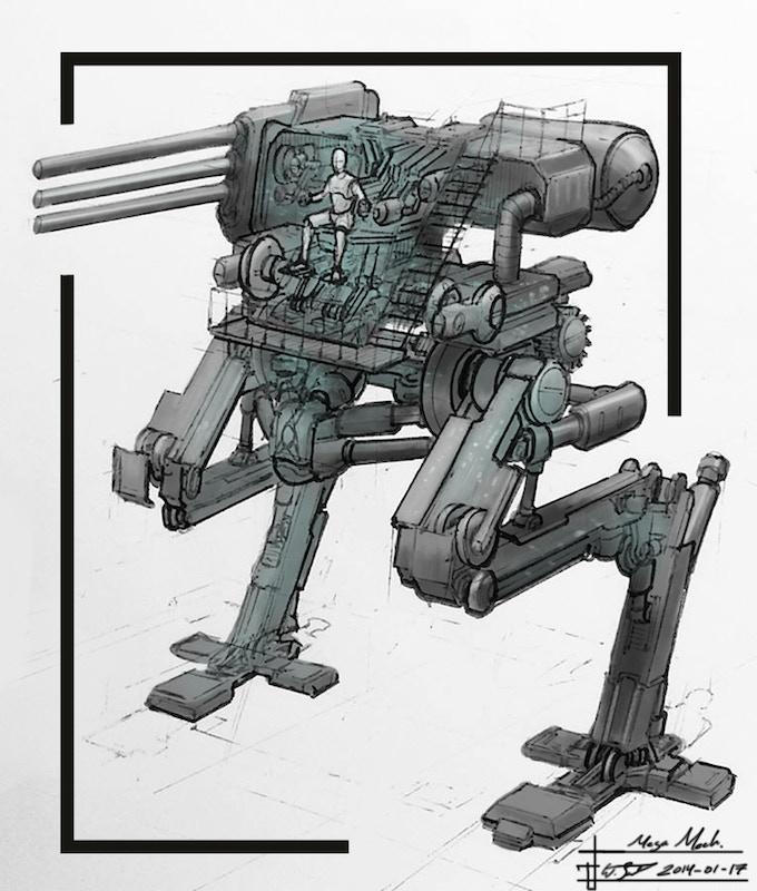 Mechanized Standing Tank (Concept Artwork by Wilbert Sweet)