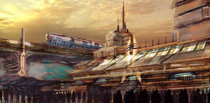 City Sunset (Concept Art by Wilbert Sweet)