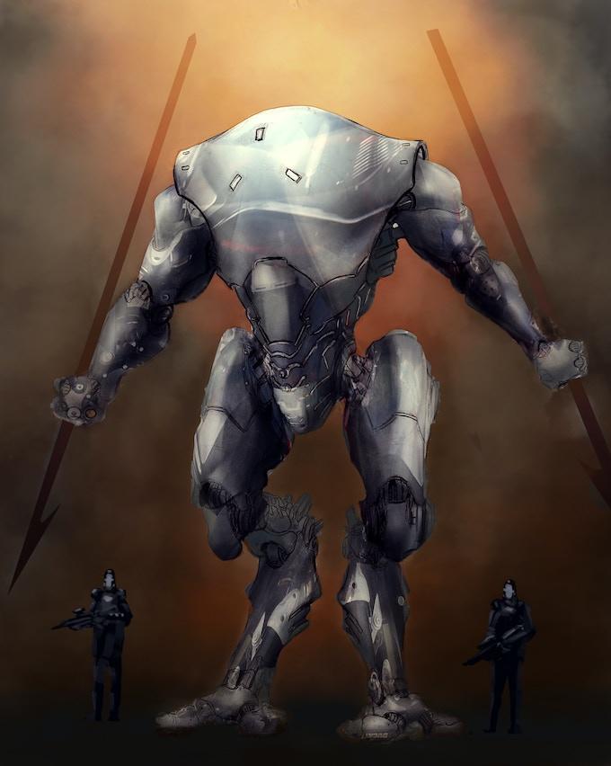 Hunter Mech Armor (Concept by Wilbert Sweet)