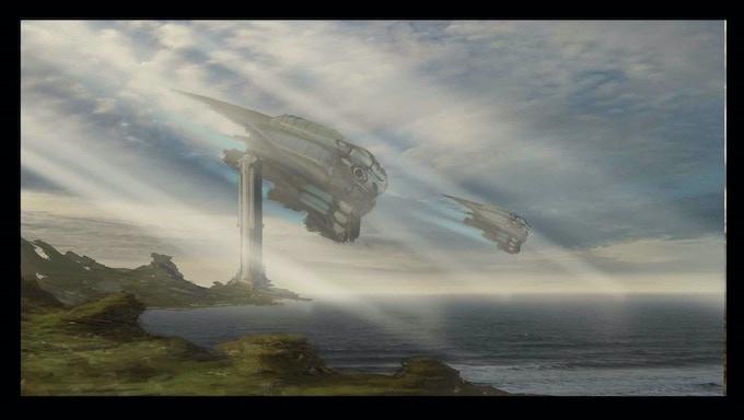 Fleet Decent (Concept Art by Wilbert Sweet)
