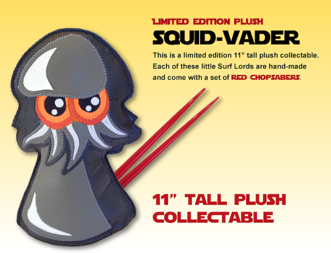 Limited Edition Plush Squid Vader Collectible