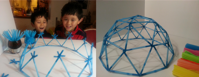 This is a fun and easy way to become familiar with the geodesic dome construction proccess.
