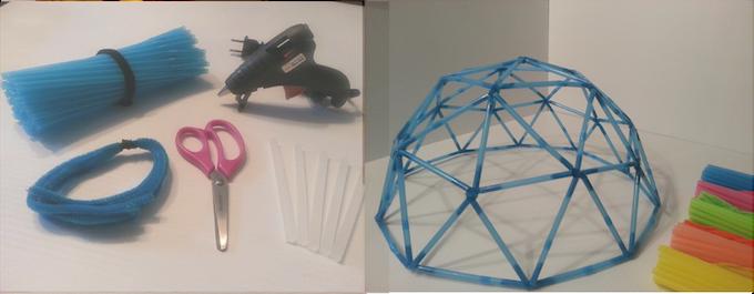 Straw Dome Model Kit