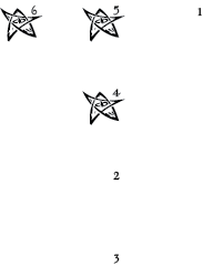 Layout for Blessed dice