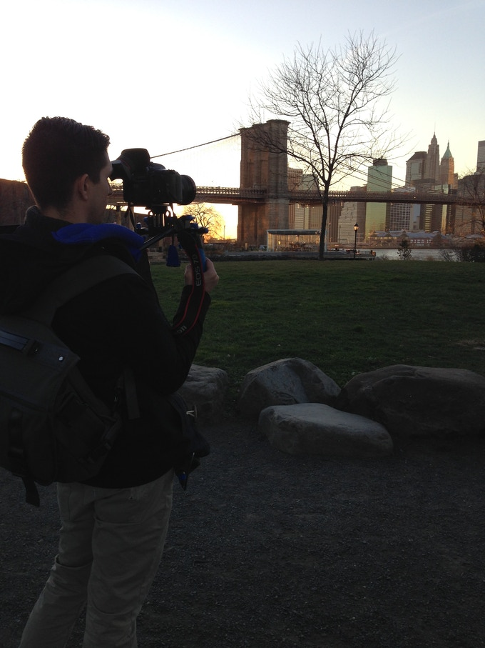 Filming the NYC Skyline for Creator's Corner Opening Montage