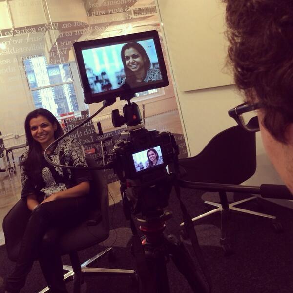 Filming TrendSeeder!