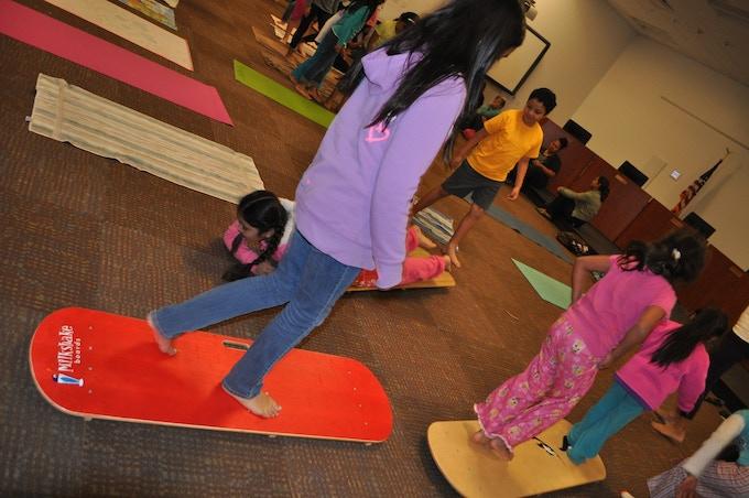 Yoga class in San Diego