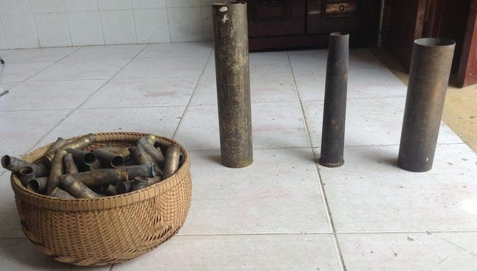 Bomb Shells and A Basket full of Bullet Casings