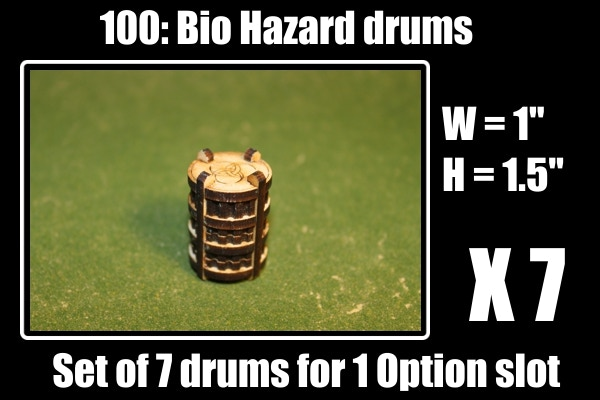 Set of 7 drums, very nice scatter terrain