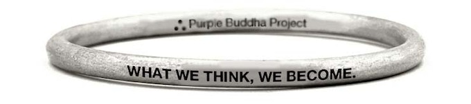 """""""What We Think, We Become"""" Bangel Bracelet Upcycled from a UXO bomb in Laos"""