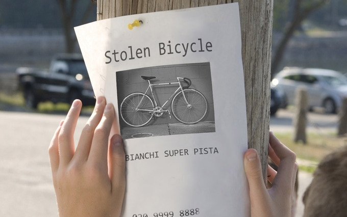If you know whereabout of your bike, a printed Ad could return it to you even if you dont know where exactly is your bike.