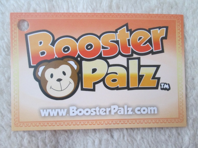 Close up of Limited Edition BoosterPalz Hang Tag - Front