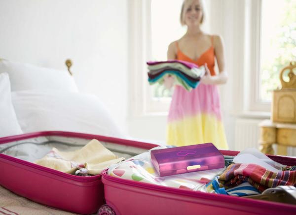 Airsafe Carryon packed into checked suitcase.