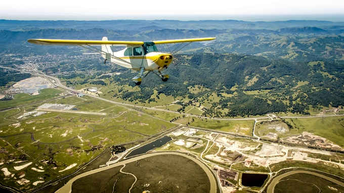"""A still captured while shooting the short documentary """"The World Above"""" as we flew in formation over Napa Valley..."""
