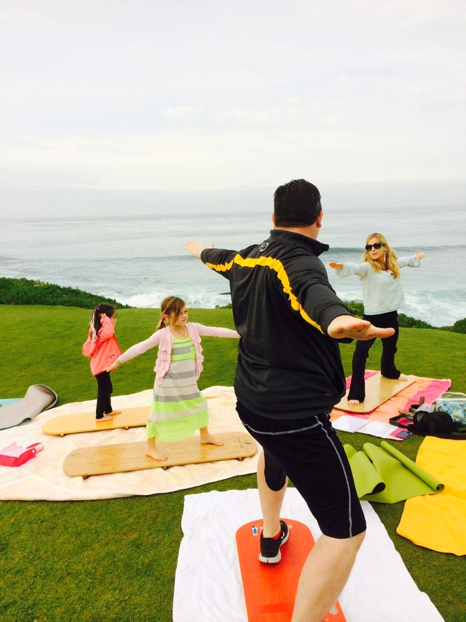 Adults love yoga boards as well.