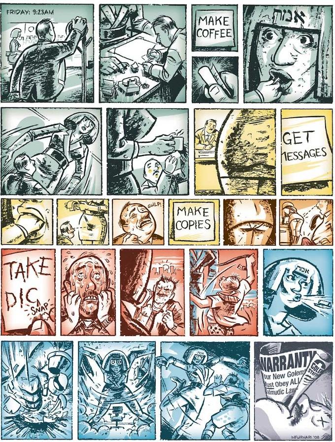 """Workin' Girl Golem"", Copyright 2008 by Joe Infurnari. Originally published in Heeb Magazine."