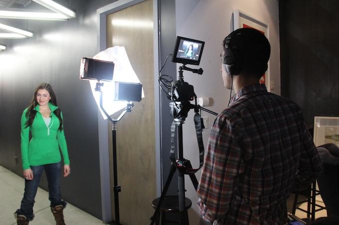 Casey Renee Rogers on Set for Creator's Corner