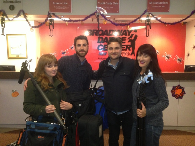 Audio Operator- Heather Duthie, Gaffer- Chris Turiello, DP-Norm Magnuson, Producer/Director-Michelle Ortega