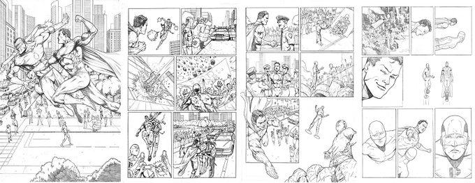 Original Penciled Art of Pages 8-11