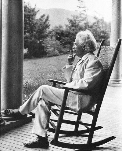 Mark Twain Thinking and Reflecting