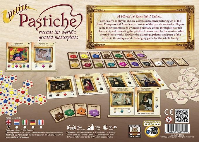 Petite Pastiche box back -- MSRP $39.99
