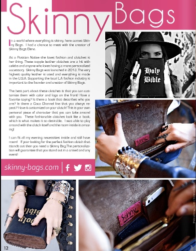 Skinny Bags got featured in January issue of Naluda Magazine