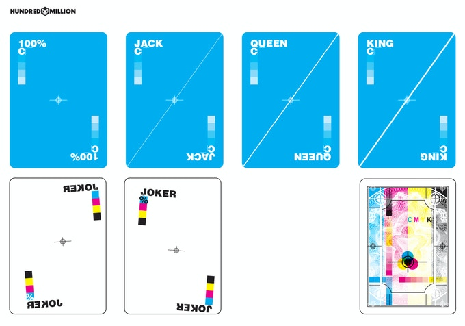 Close up of CYAN face cards, jokers and back design changes