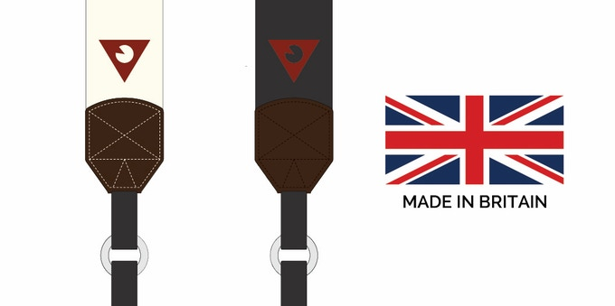Slidestrap comes in cream or black, both proudly made in Britain