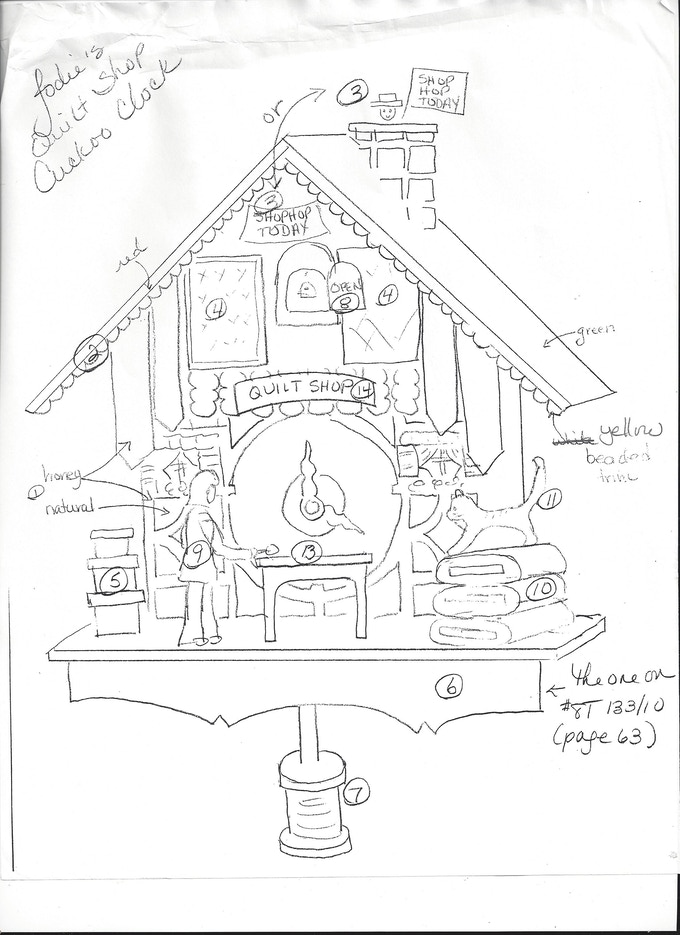 Development Of The Quilt Shop Cuckoo Clock