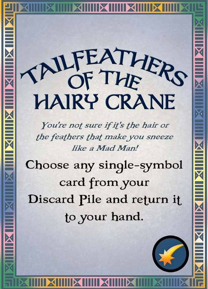 Tailfeathers of the Hairy Crane