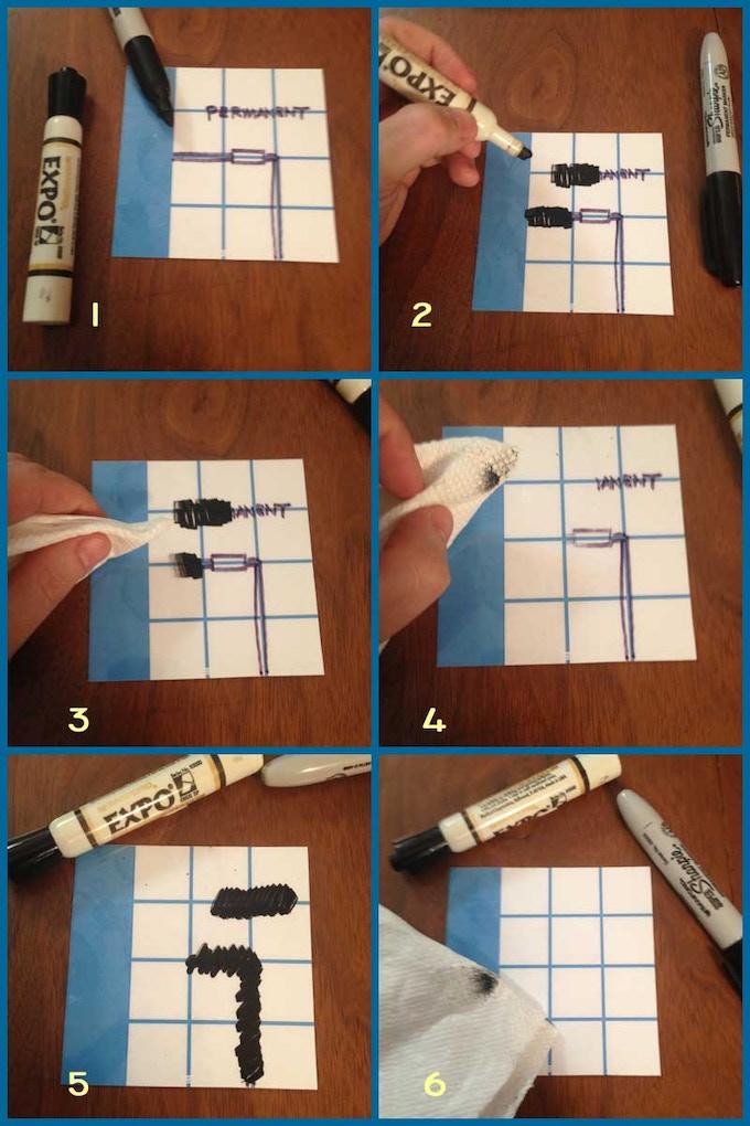 Erasing Permanent Marker