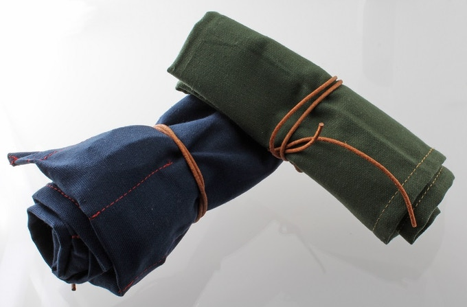 Limited Edition Kickstarter Blue and Green Watch Rolls