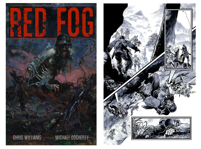 RED FOG © Chris Williams & Mike Docherty, RED FOG Cover Art © George Pratt