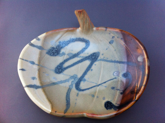 One of the Rewards: Debs Signature Pumpkin Plate in Neutral Colors