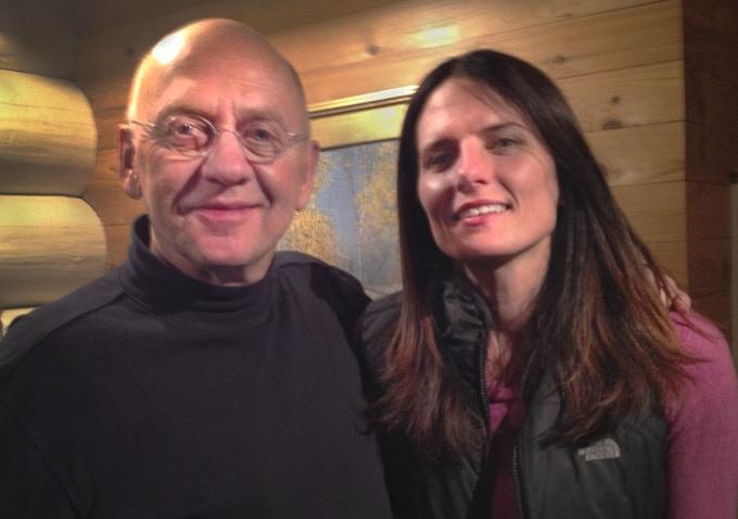 Director Julia Huffman and Jim Brandenburg at Ravenwood, MN