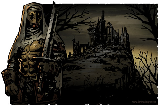 The Leper: One of the many unique character classes playable in Darkest Dungeon.