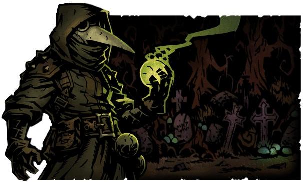 The Plague Doctor can hurl toxic plague grenades to sicken enemies.
