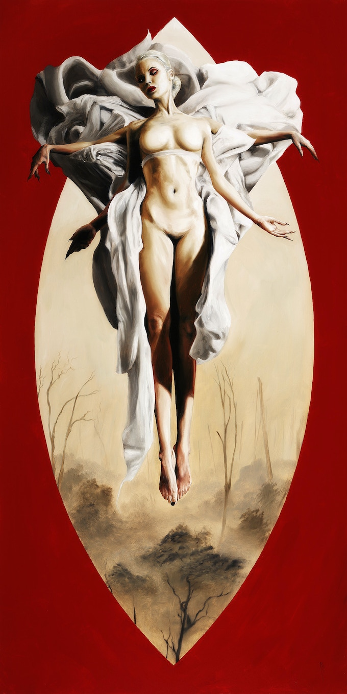 """18x36"""" oil painting """"Abeo One"""" by menton3"""