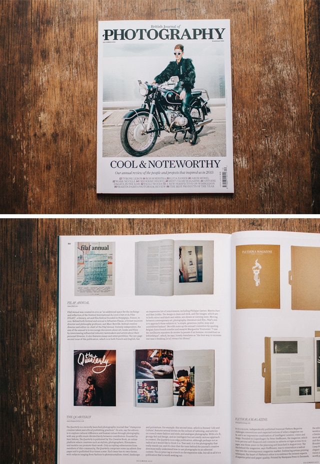 The British Journal of Photography named us as one of the Cool and Noteworthy publications of 2013