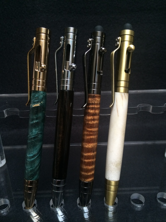 From left to right: 24kt Gold, Chrome, Gunmetal, Antique Brass