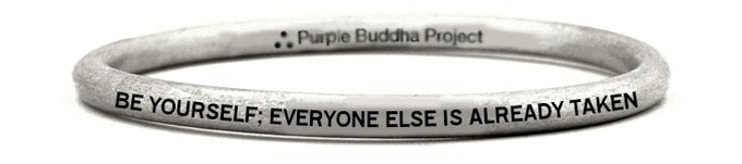 """""""Be Yourself; Everyone Else is Already Taken, Oscar Wilde"""" Bangel Bracelet Upcycled from a UXO bomb in Laos"""