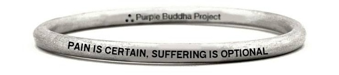 """""""Pain Is certain, Suffering is Optional"""" Bangel Bracelet Upcycled from a UXO bomb in Laos"""
