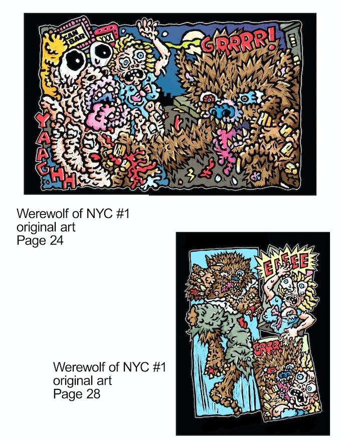 8 x 10 inch Original Scratchboard Art