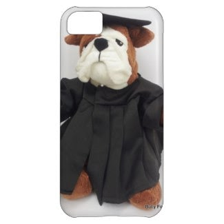 This Bulldog  Graduate phone case personalized with Property of (owner's name), school's initials and the Class of (year)!  A fun way to safeguard your valuables or to show off at Homecoming!